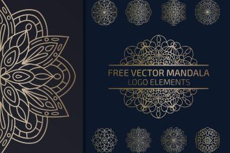 Free Vector Mandala Logo Elements