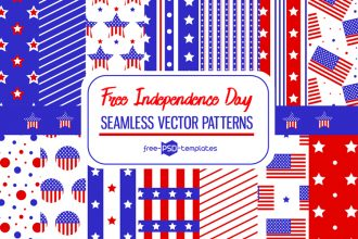 Free Vector Independence Day Patterns Set