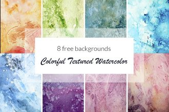Free Colorful Textured Watercolor