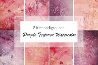 Free Purple Textured Watercolor