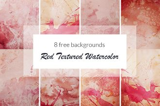Free Red Textured Watercolor