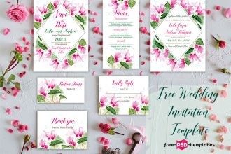 Free Wedding Invitation Template Cyclamen