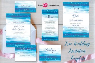Free Wedding Invitation Template Sea