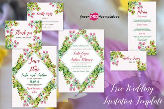 Free Wedding Invitation Wildflowers