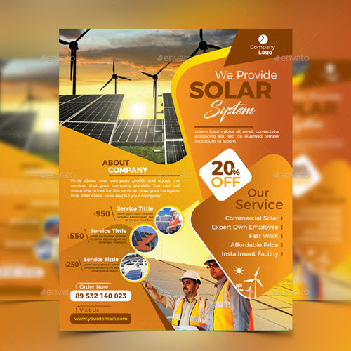 20  premium and free environmental protection flyer