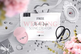 Free Wedding Mockup Scene Creator + Premium Version