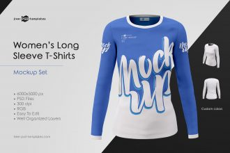 Women's Long Sleeve T-Shirts MockUps