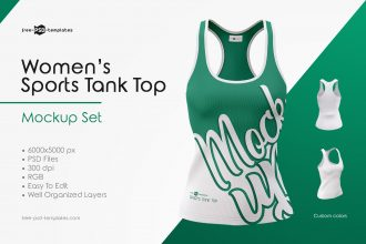 Women's Sports Tank Top Mockup Set