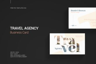 Free Travel Agency Business Card in PSD