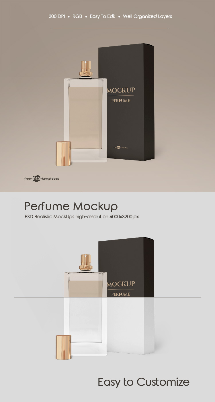 Free Perfume Mock Up In Psd Free Psd Templates