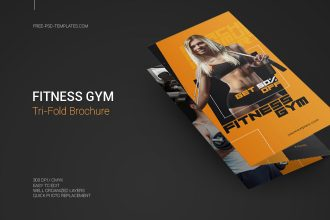 Free Fitness Gym Tri-Fold Brochure in PSD