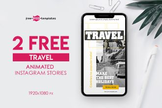 2 Free Animated Travel Instagram Stories in PSD