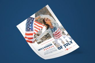 Free 4th July Flyer in PSD