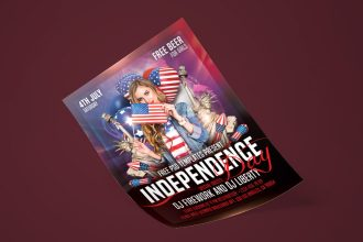 Free Independence Day Flyer in PSD