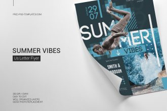 Free Summer Vibes Flyer in PSD