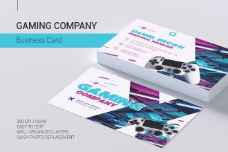 Free Gaming Company Business Card in PSD