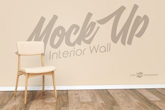 Free Interior Wall Mock-up in PSD