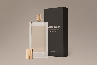Free Perfume Mock-up in PSD
