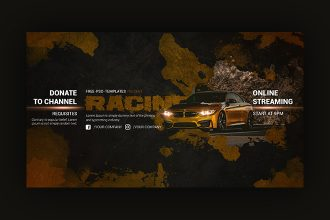 Free Racing YouTube Channel Banner