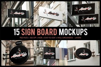Free Sign Board MockUps + Premium Version