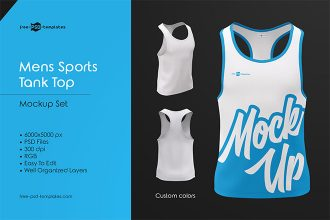 Mens Sports Tank Top MockUp Set