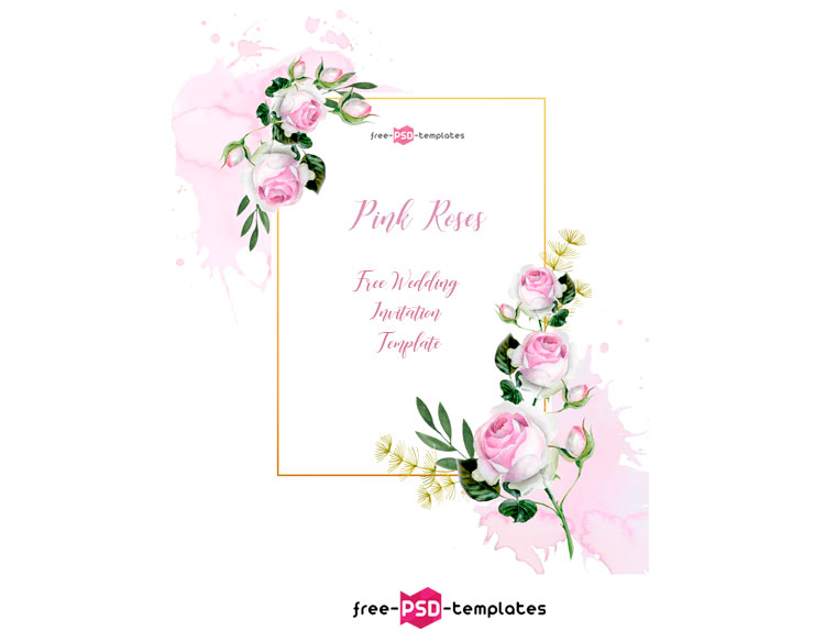 Free Roses Wedding Template