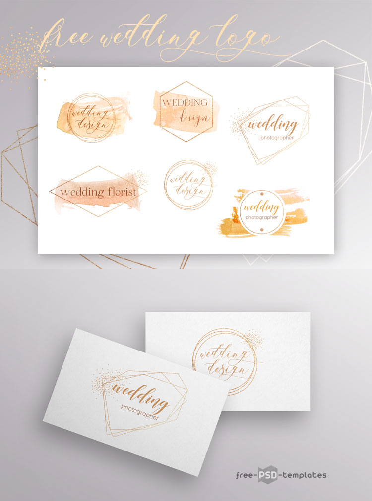 Wedding Invitation Template free PSD