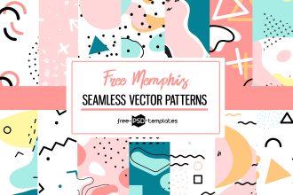 Free Memphis Vector Patterns Set