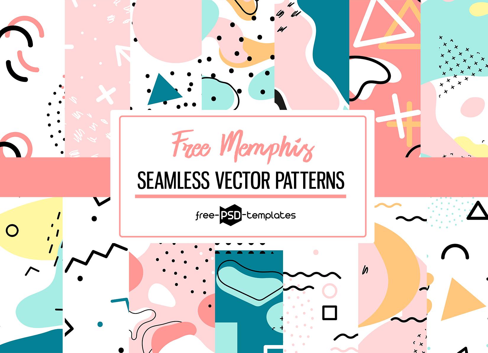Free Memphis Vector Patterns Set Free Psd Templates