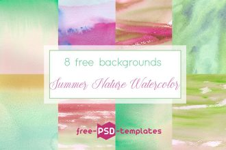 Free Summer Nature Watercolor