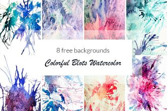Free Colorful Blots Watercolor Background
