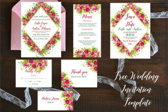 Free Wedding Invitation Template Daisies