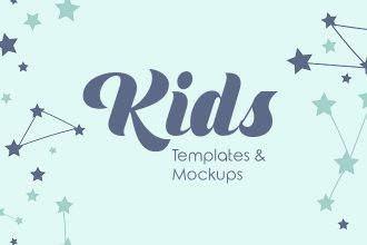 Top 35 Premium & Free Templates and Mockups for Kids Related Designs