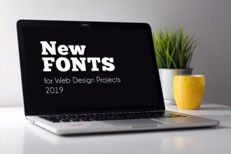 20+ Premium and Free New Fonts for Web Design Projects 2019