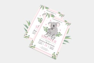 Free Baby Shower Invitation in PSD