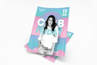Free Club Friday Flyer in PSD