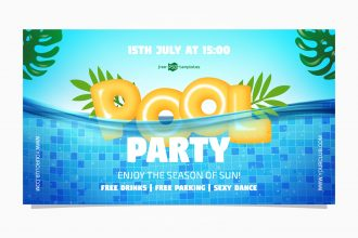 Free Pool Party Facebook Event Page