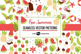 Free Vector Summer Patterns Set