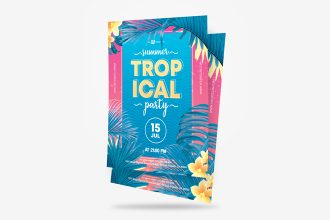 Free Tropical Party Flyer in PSD