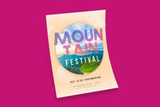Free Mountain Festival Flyer