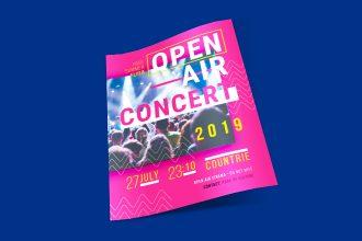 Free Open Air Concert Flyer