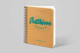 Free Sketchbook Mockup Set
