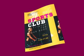 Free Sports Club Fitness Flyer