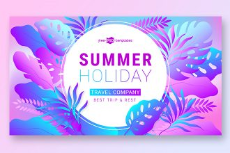 Free Summer Holiday Banner Set