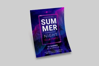 Free Summer Night Club Party Flyer