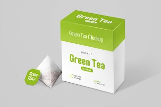 Free Tea In Bags Package Mockup Set