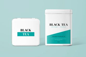 Free Tea Package Mockup Set