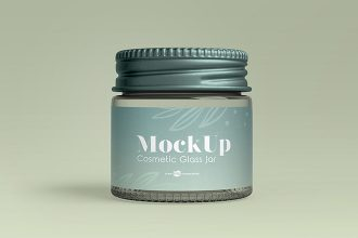 2 Free Cosmetic Glass Jar Mock-ups in PSD