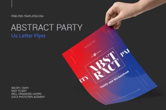 Free Abstract Party Flyer in PSD