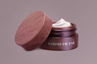 Free Cosmetic Jar Mock-up in PSD